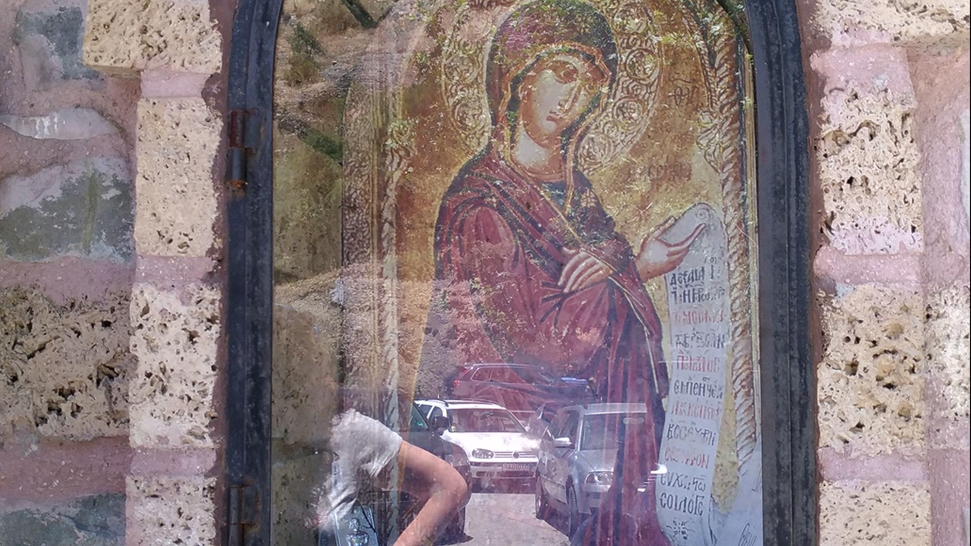 Чудотворная икона Богоматери в Метеорах