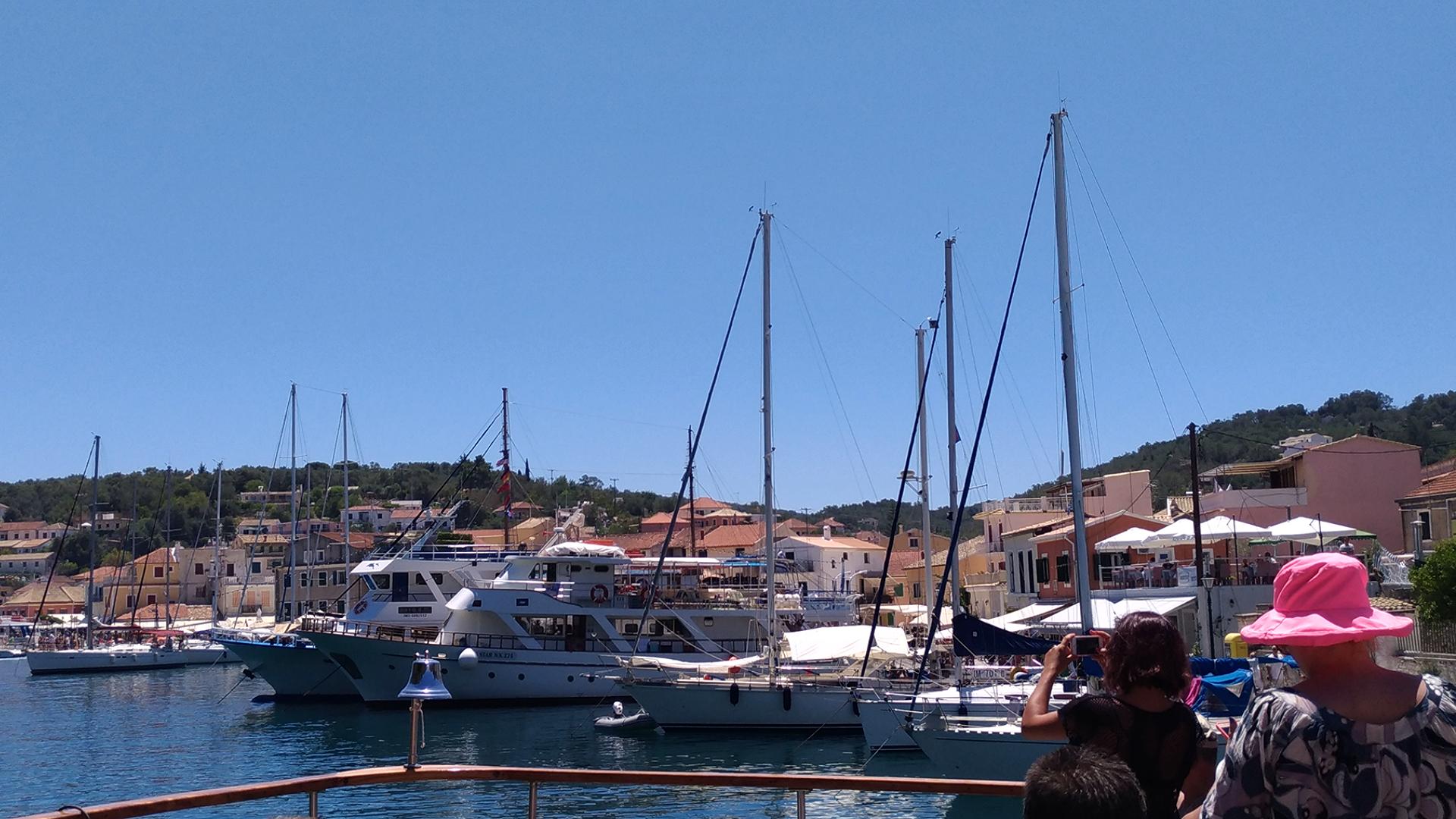 Остров Паксос. Порт. Греция