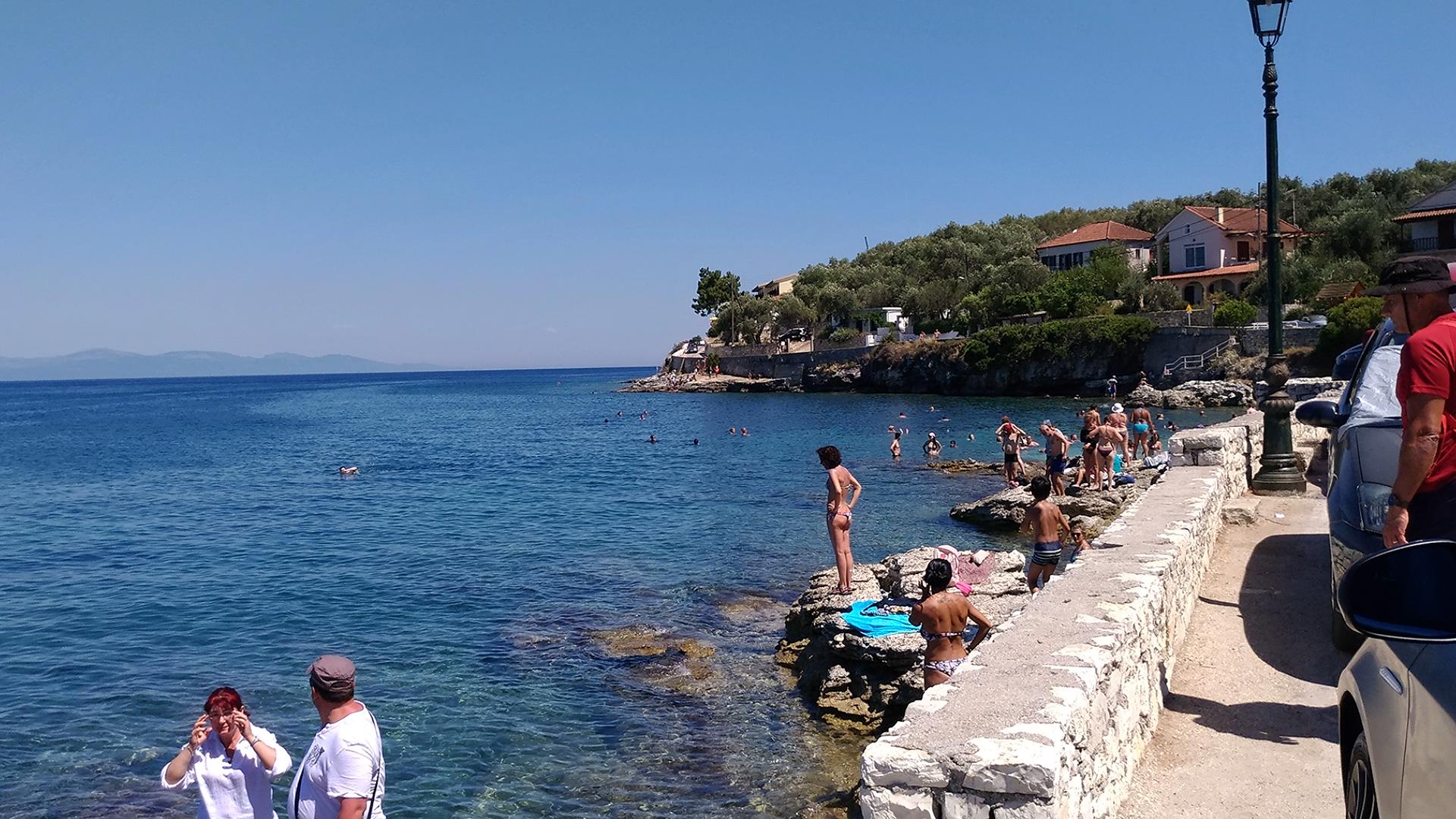 Пляж порта Гайос на острове Паксос