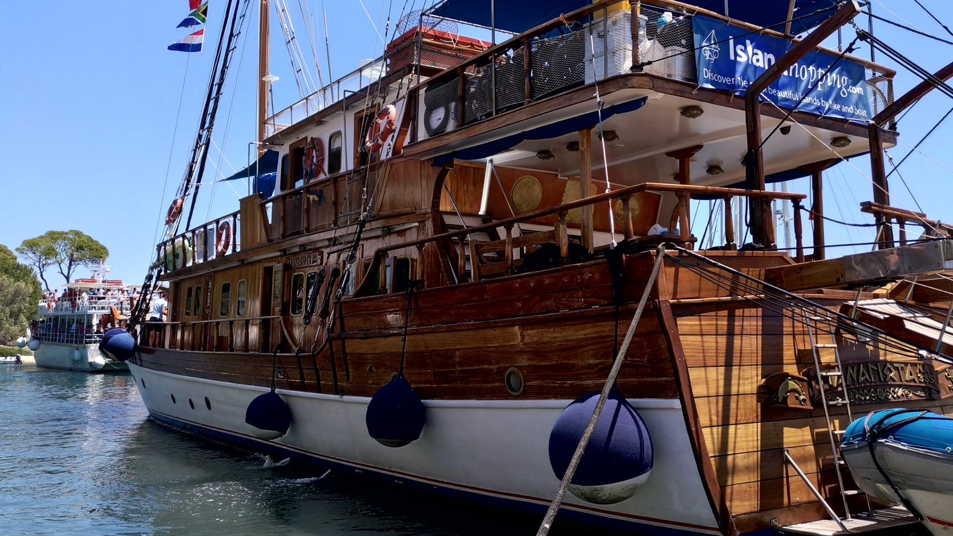 Яхты в порту Гайос. Остров Паксос